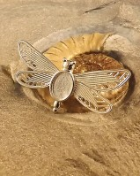 Silver Dragonfly Brooch For A 10x8 Cabochon Or Resin