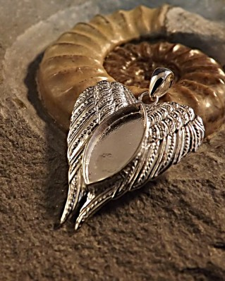 Silver Angel Wings Pendant Memorial Gift