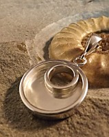 Solid Silver Circle Pendant Great with Resin Or Your Own Stones