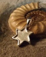 Silver Solid Back Star Pendant For Resin