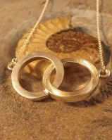 Entwined circles Pendant great with Resin