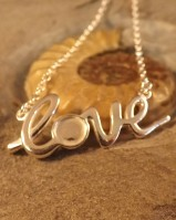 Silver Love Pendant With Chain For 6MM Cabochon Or Resin