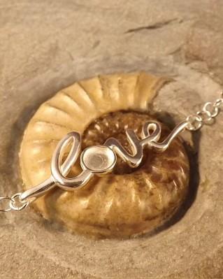 Silver Love Bracelet For 6mm Cabochon or Resin