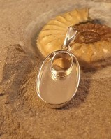 Oval Silver Pendant Great With Resin