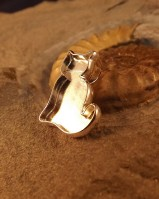 Solid Silver Cat Pendant