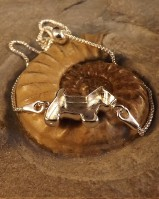 Solid Silver Dog Bracelet Great With Resin