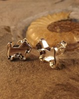 Solid Silver Dog Stud Earrings Great For Resin