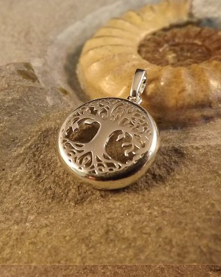 Silver Tree Of Life Pendant For 15mm Cabochon