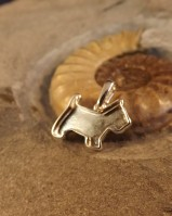 Silver Dog Pendant Suitable For Resin And Ashes