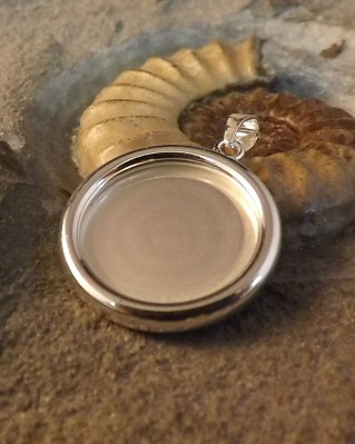 Solid Silver Pendant For 18mm Round Resin Or Cabochon