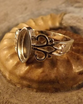 Solid Silver Marquise Style Ring